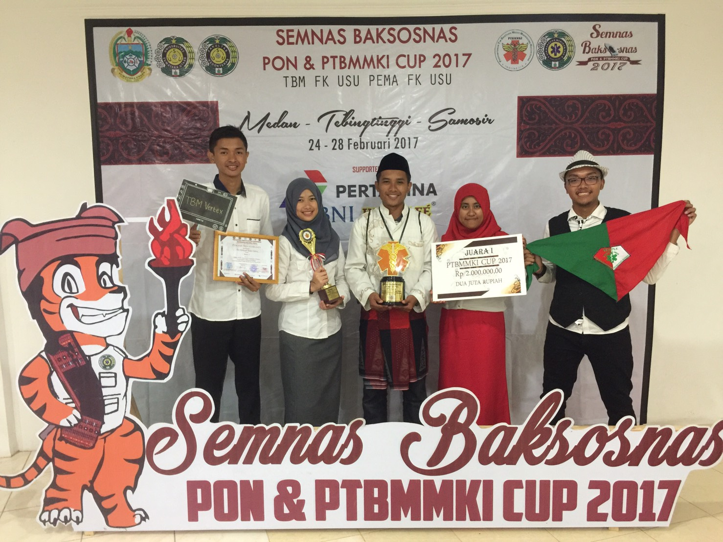 TBM Vertex Raih Juara 1 PTBMMKI CUP 2017