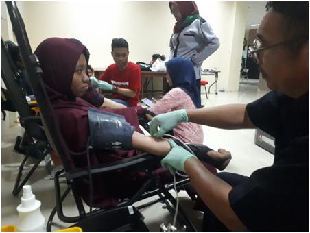 GIVE BLOOD SAVE LIFE, Donor Darah TBM Vertex Menuju Kampus Agromedis Sehat