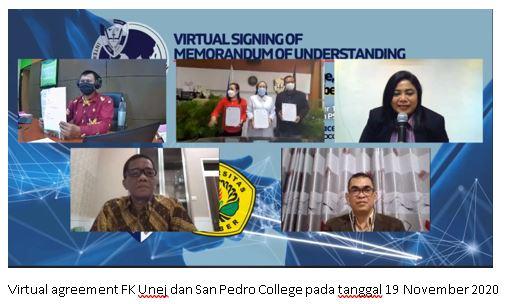 Mantapkan Langkah Menuju Pusat Agromedis Asia Tenggara, FK UNEJ Tandatangani MoU dengan San Pedro Collage Filipina